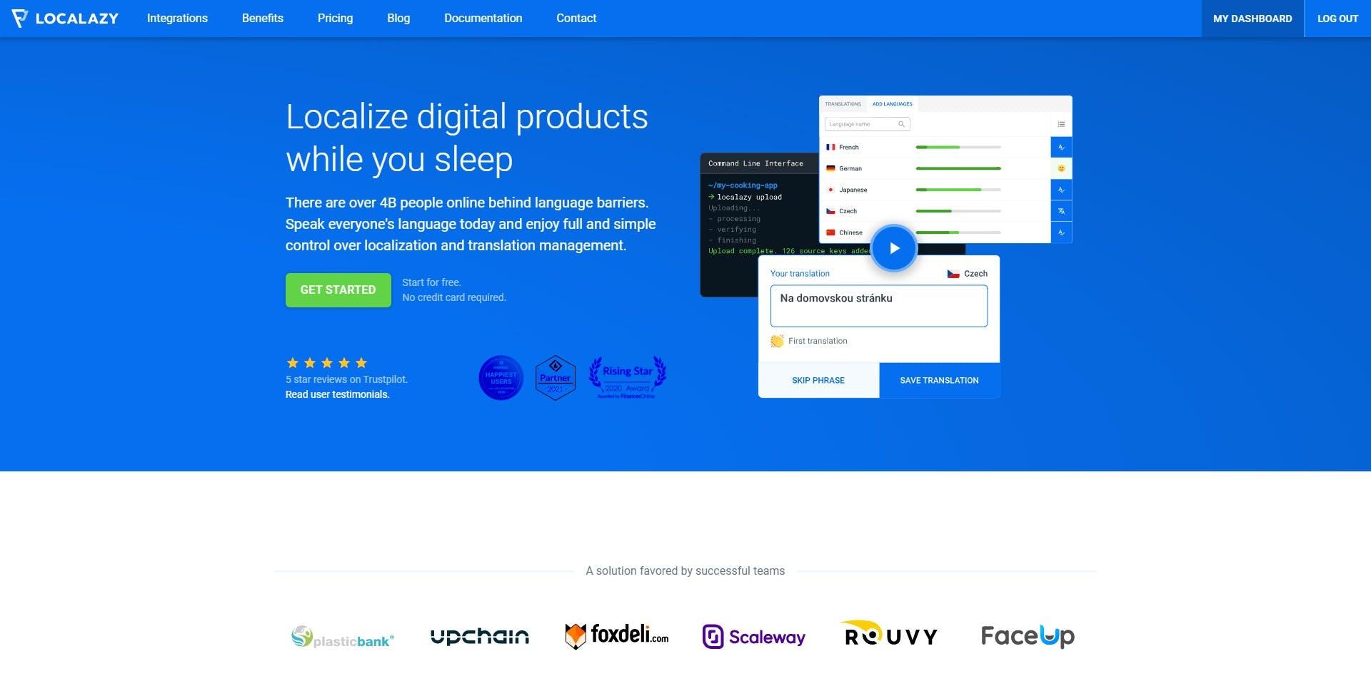 Localazy.com Homepage