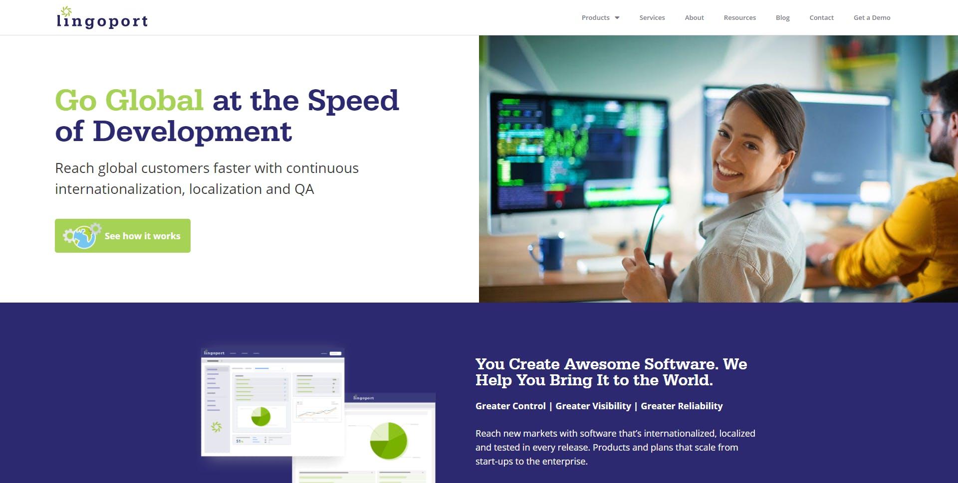 Lingoport.com Homepage