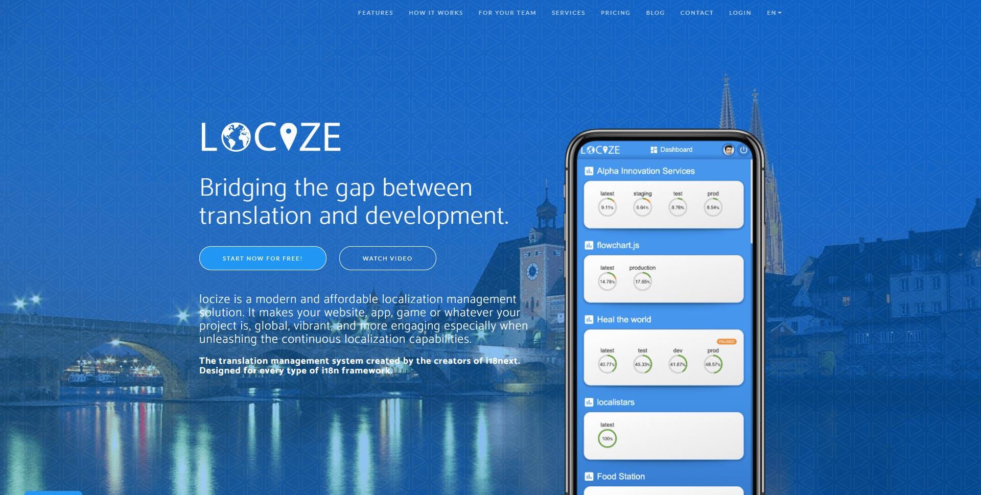 Locize.com Homepage