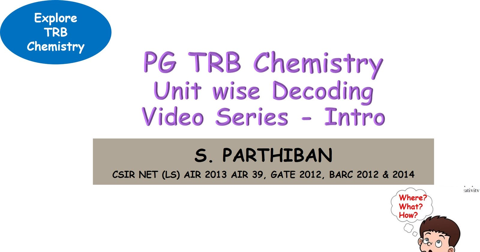 PG TRB Chemistry  Unit wise decoding video series  Introduction