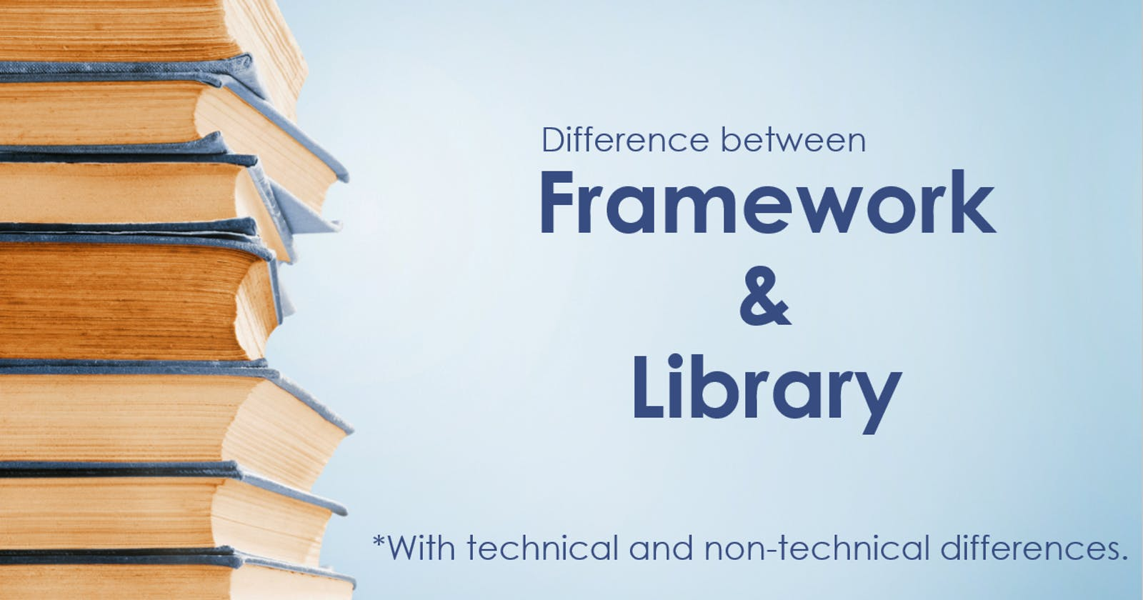Difference between a Framework and Library