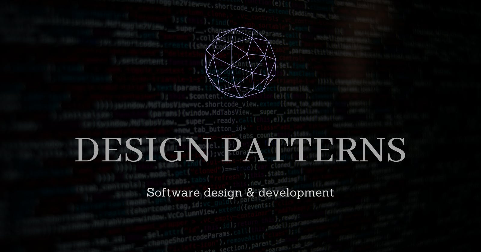 Design Patterns for software design and development