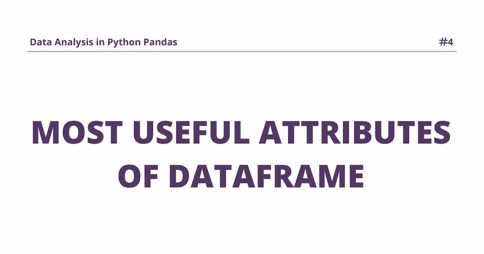 Attributes of Pandas DataFrame.
