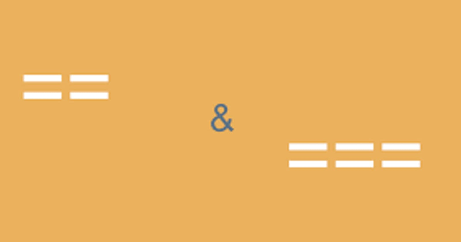 Difference Between == (equal) and === (comparison) Operators In Php