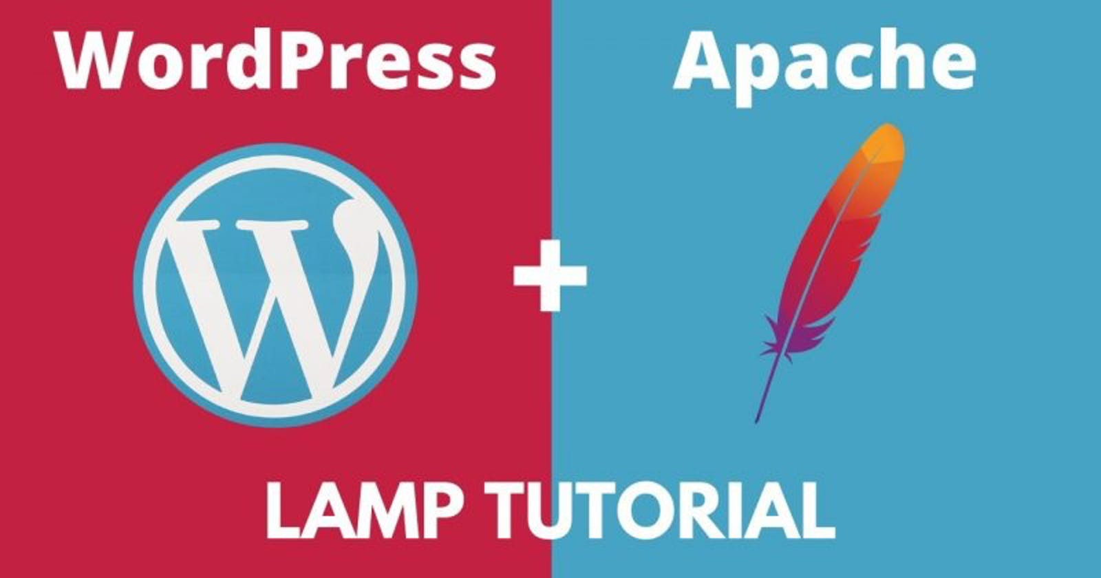 Install LAMP Server and configure Wordpress site on it