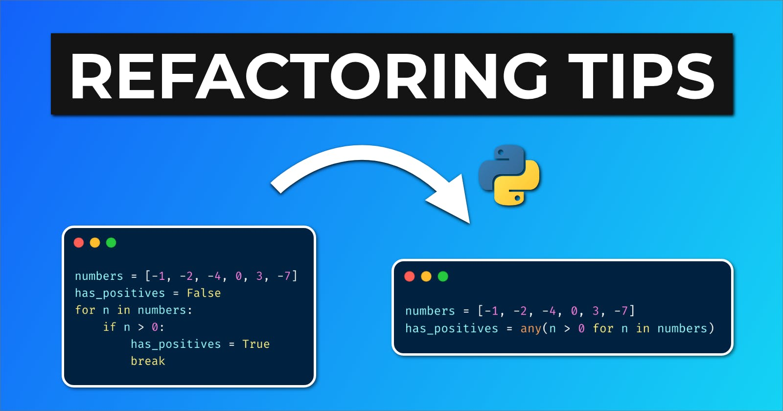 Quick Python Refactoring Tips