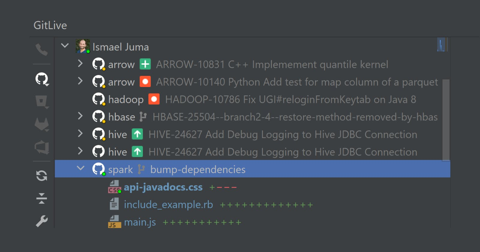 How to See Which Branch Your Teammate is on in IntelliJ
