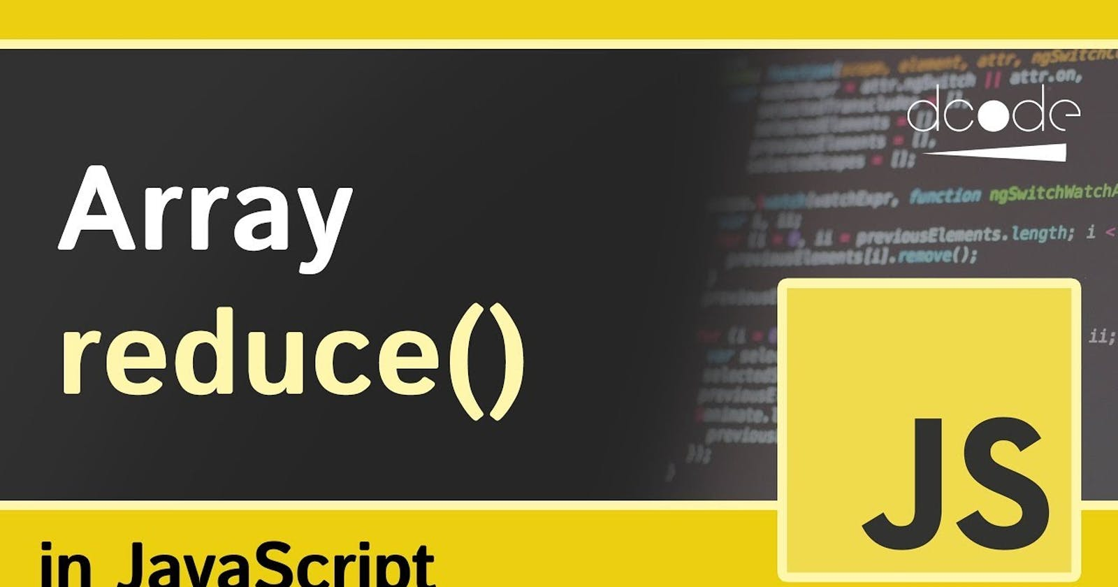 Understanding the `reduce()` array method in JavaScript