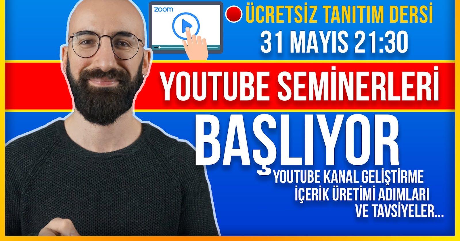 Youtube İçerik Üretimi Seminerleri Başlıyor- (Youtuber Olmak- Youtube İçin Profesyonel İçerik Üretimi