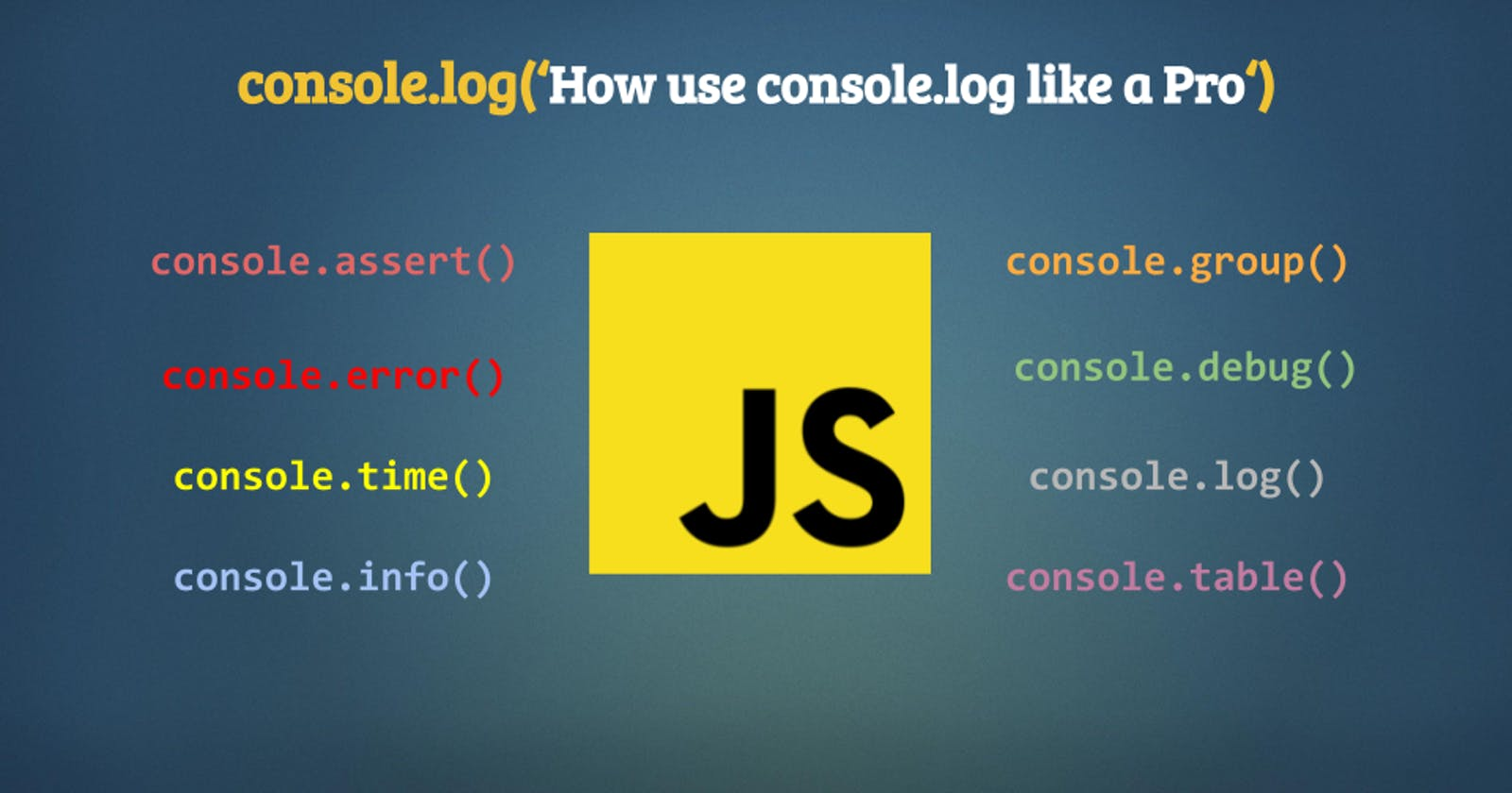 How use console.log like a Pro