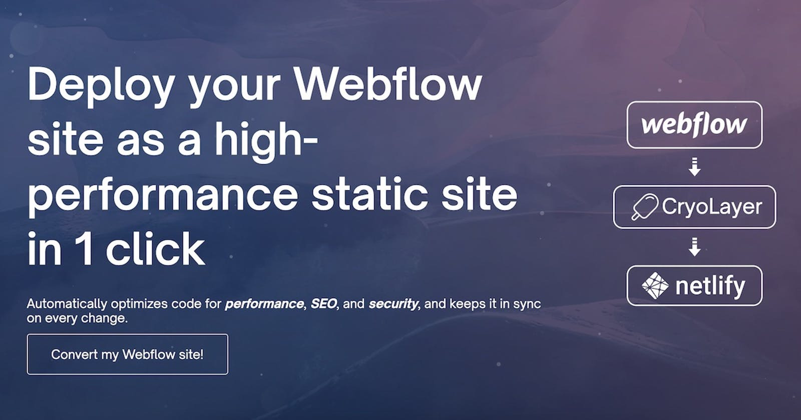 Automated Webflow to Jamstack Converter