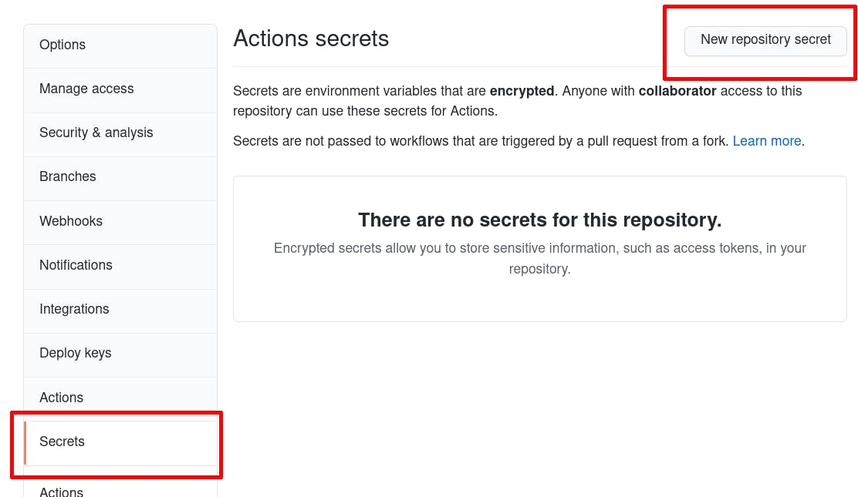 add secret step 1