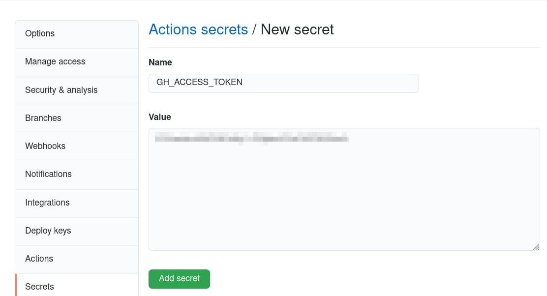 add secret step 2