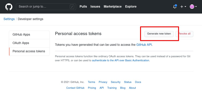 generate token step 1
