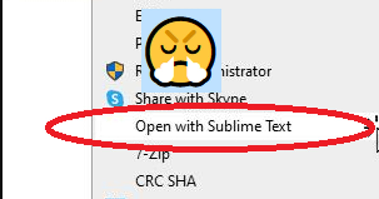 How to Remove Sublime Text from Context Menu after Uninstall on Windows 10