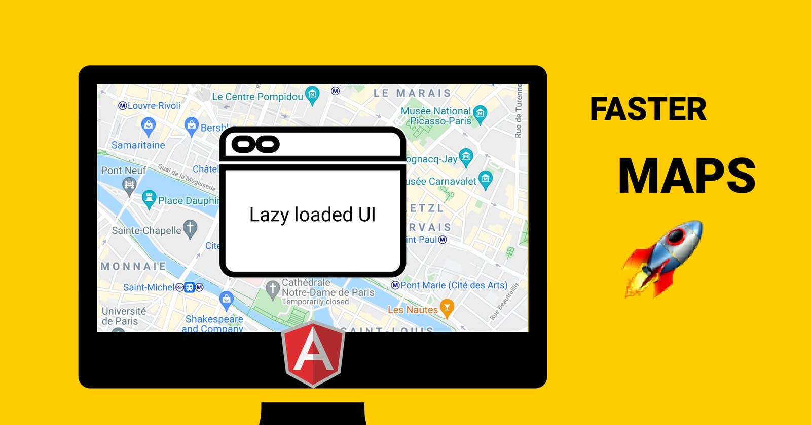 Faster maps with lazy-loaded components