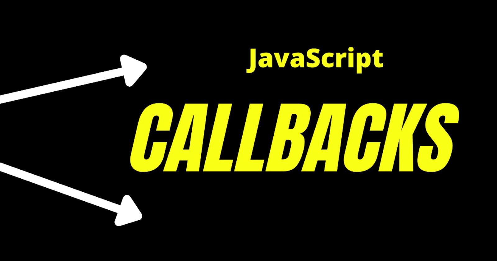 JavaScript Callback Functions