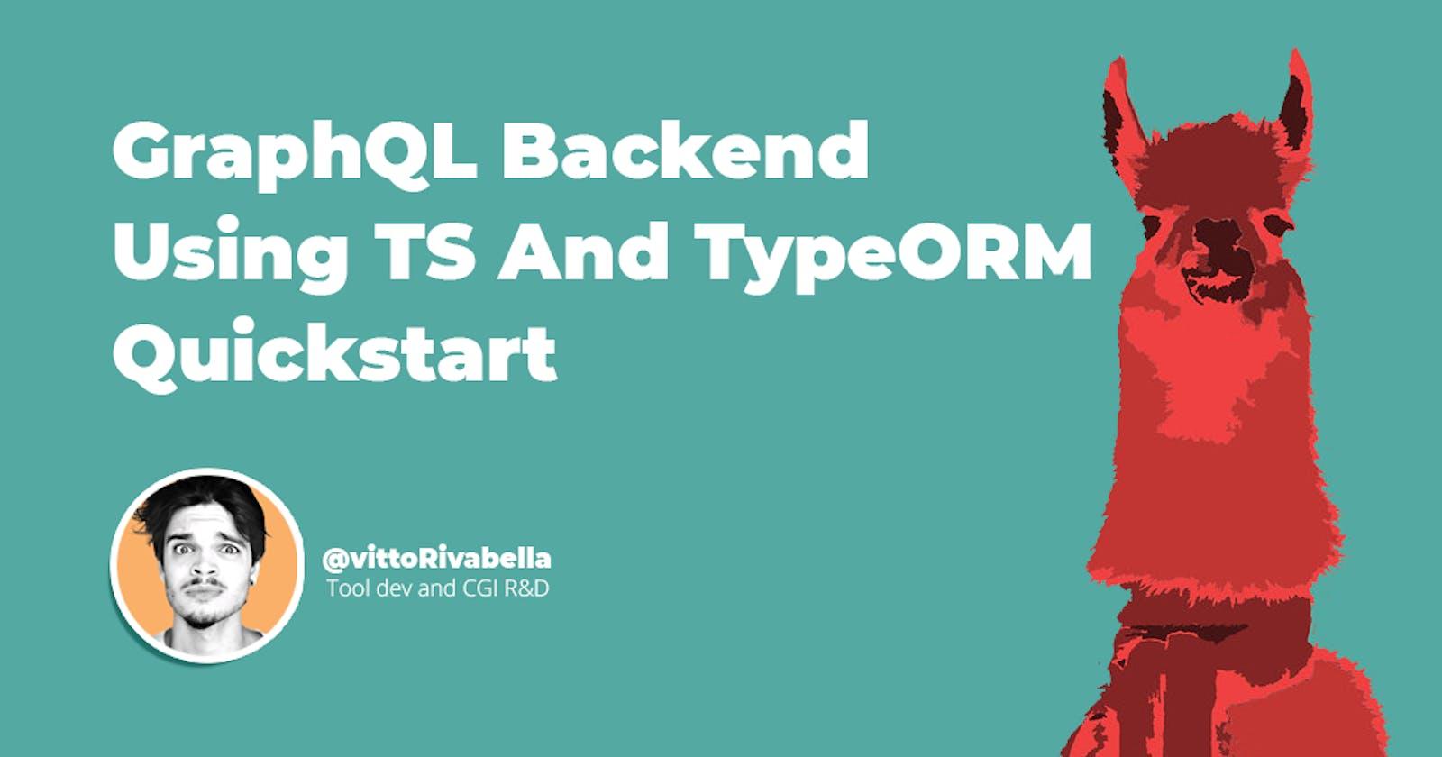 Set Up a GraphQL - TypeORM Backend in 4 Minutes | Quickstart