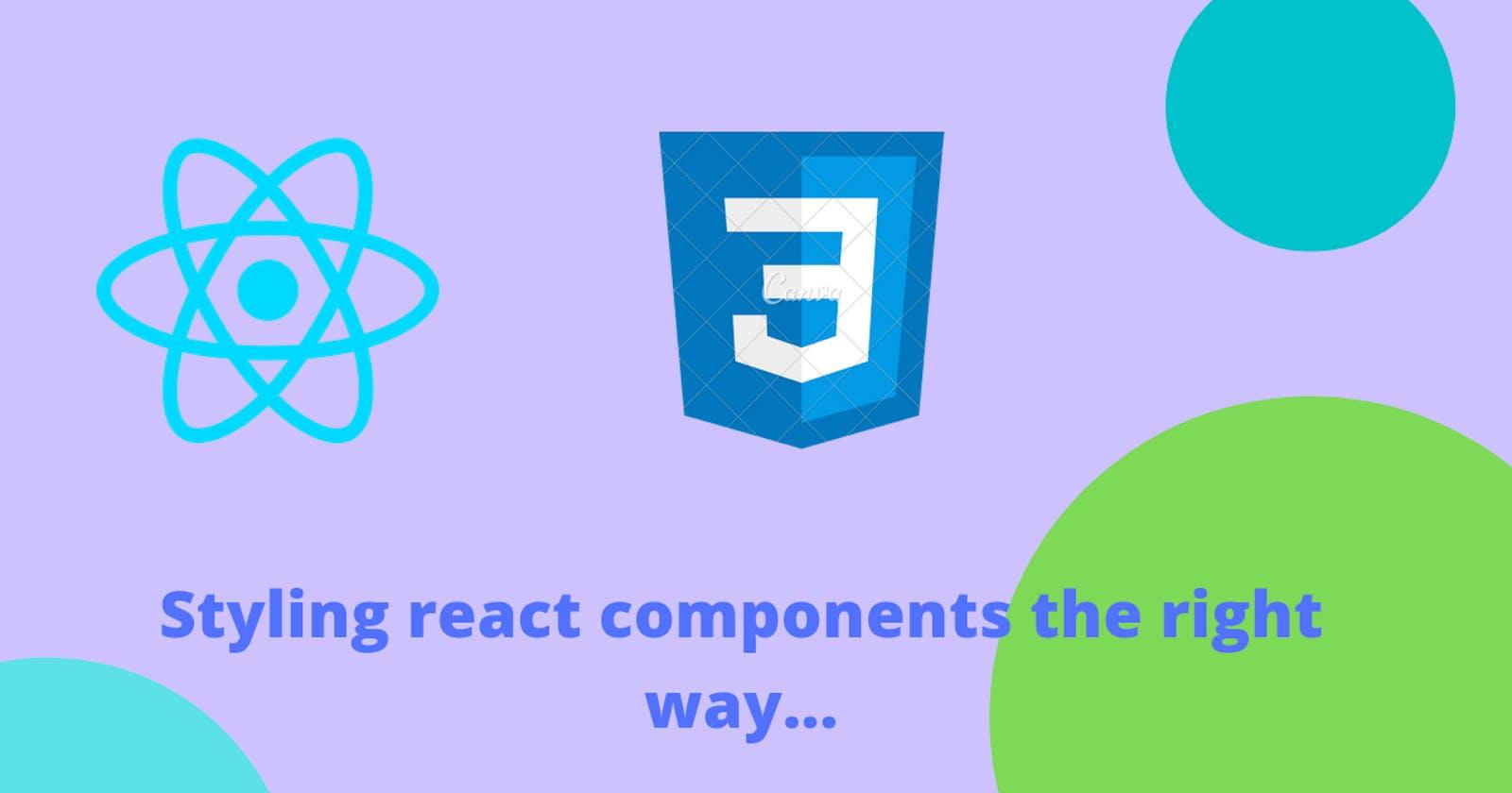 Two ways to write CSS more elegantly in React