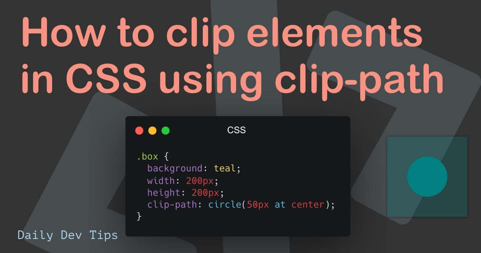 How to clip elements in CSS using clip-path