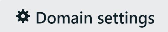 Domain settings button