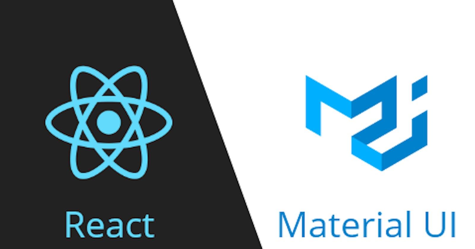 A Crash Course in Material-UI