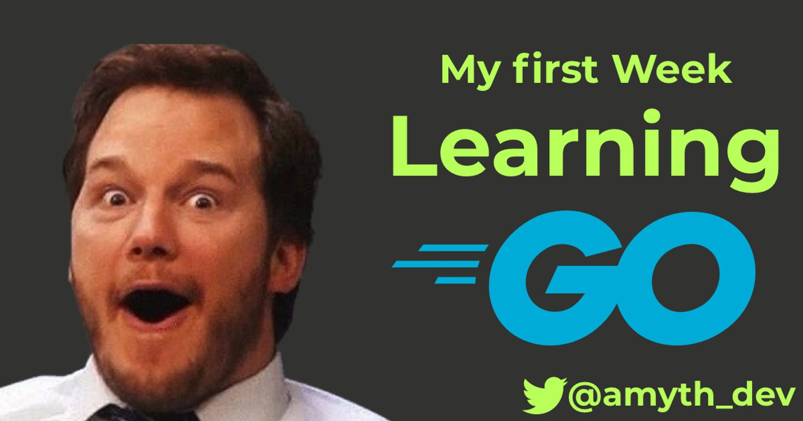 My First week of learning GO.