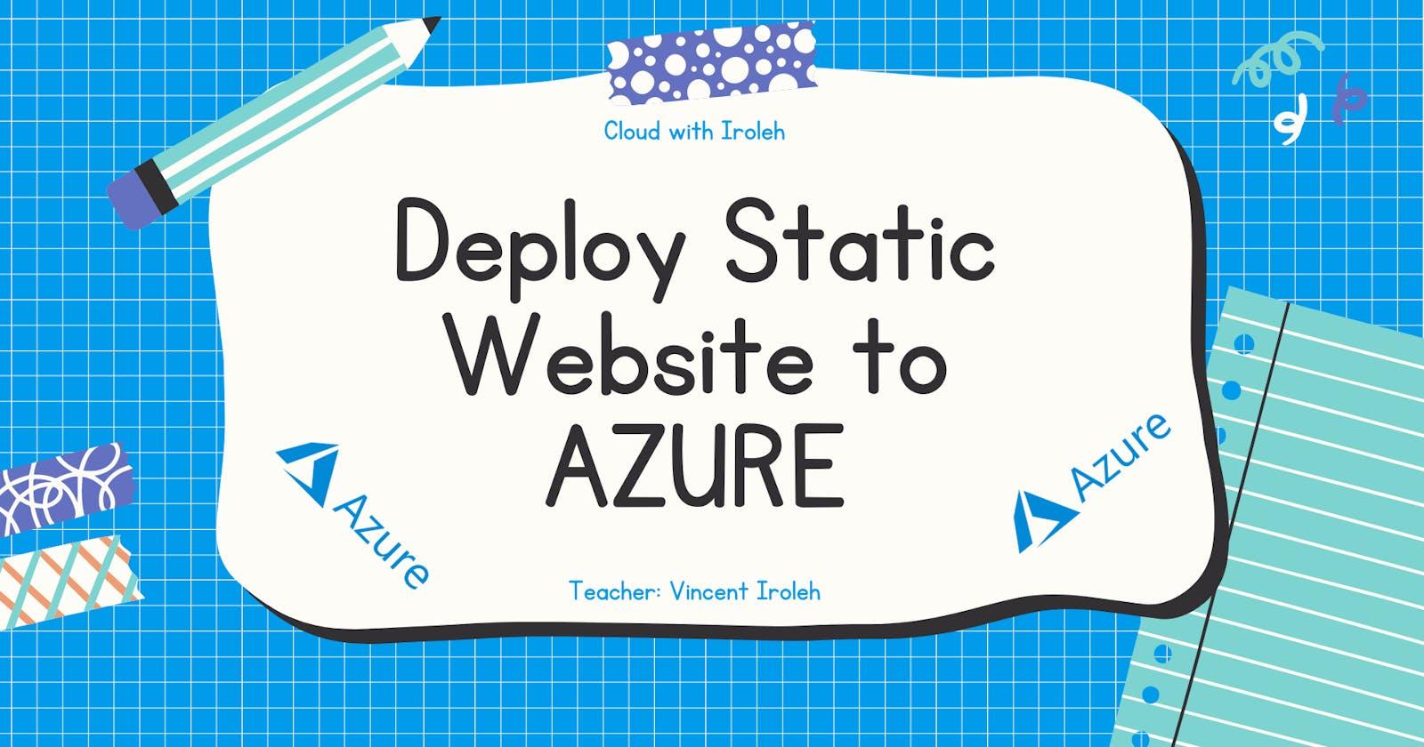 Azure Storage and Azure CDN for Static Website Hosting?