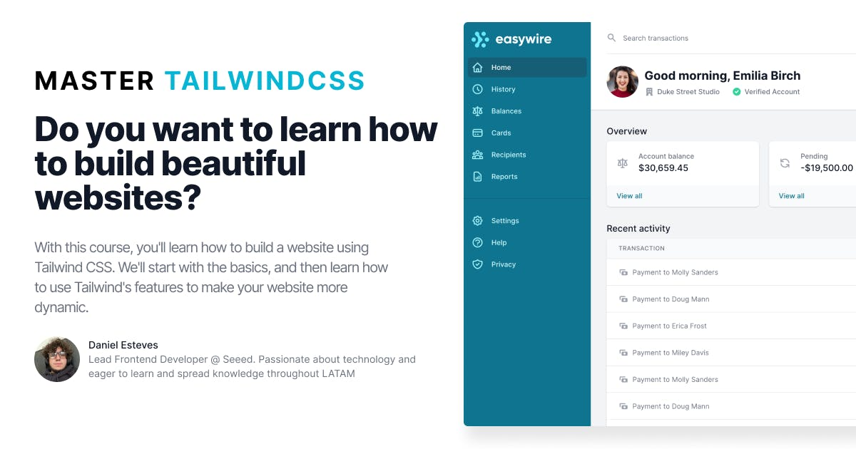 Mastering TailwindCSS - Build entire interfaces using TailwindCSS