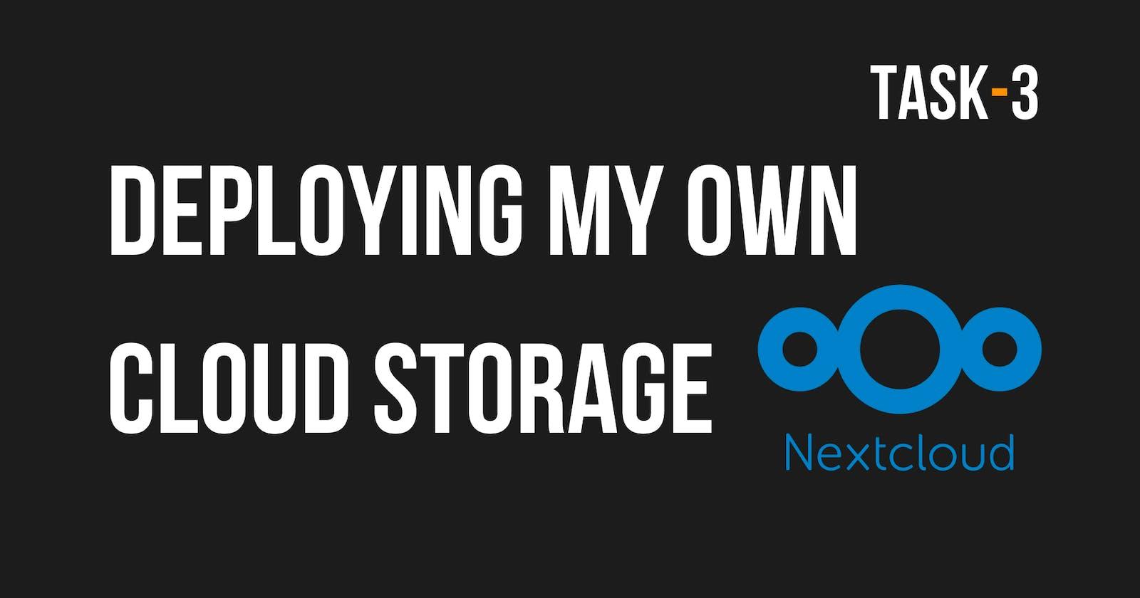 Deploying My Own Cloud | Task - 3
