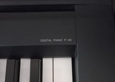 Yamaha P-45 piano model name on piano