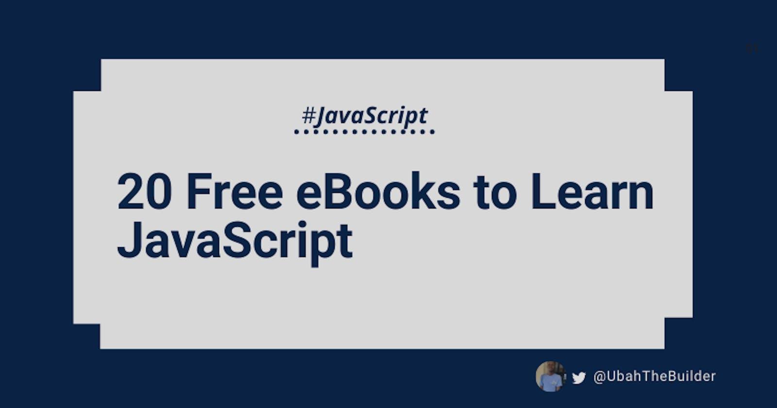 20 Free eBooks to Learn JavaScript in-depth