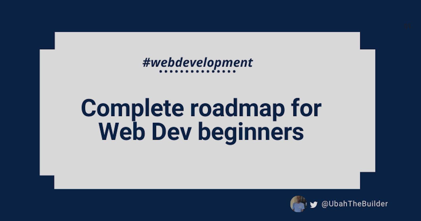 Complete Web Development Roadmap For Newbies