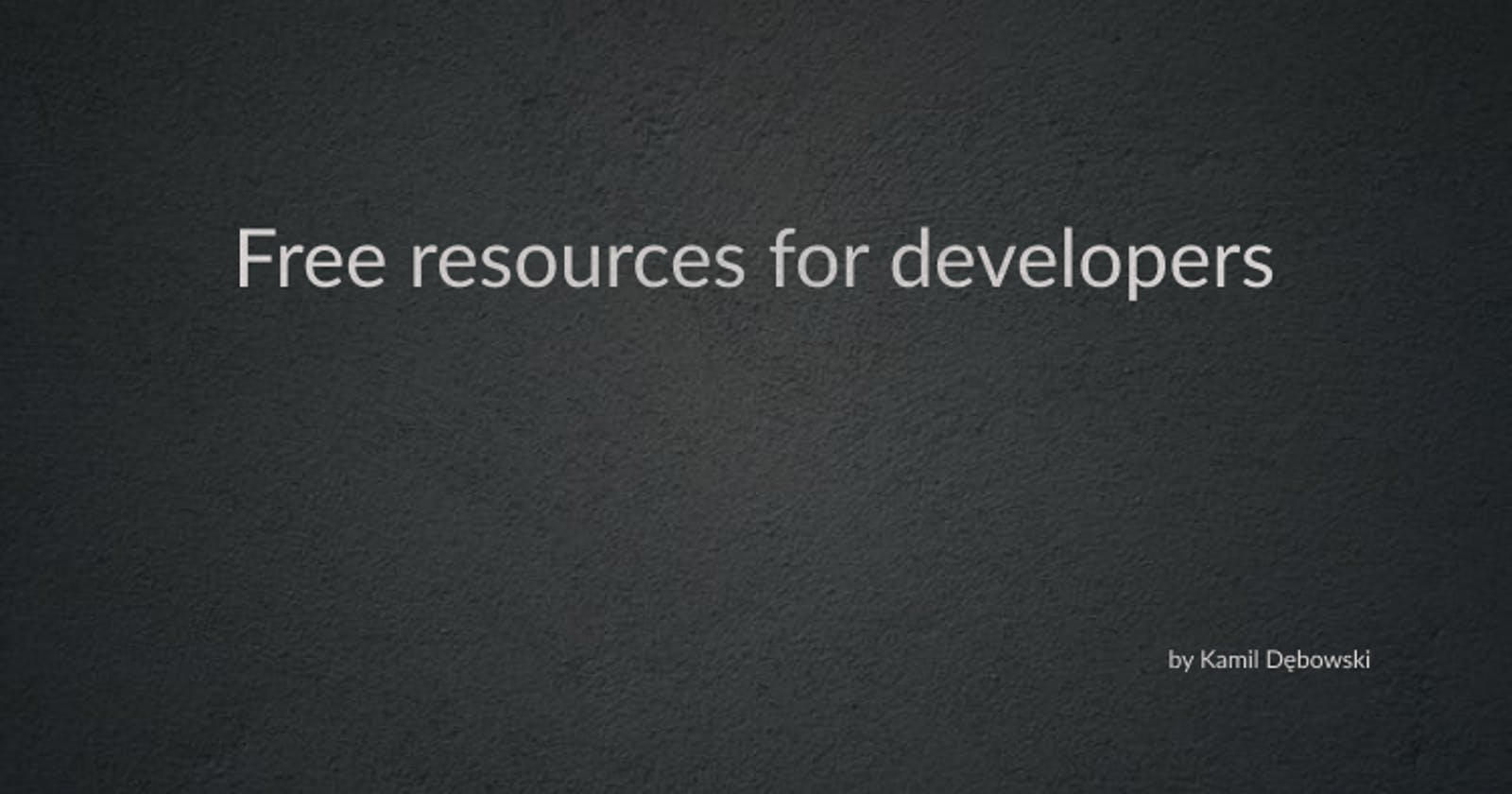 Where to find free resources for developers?