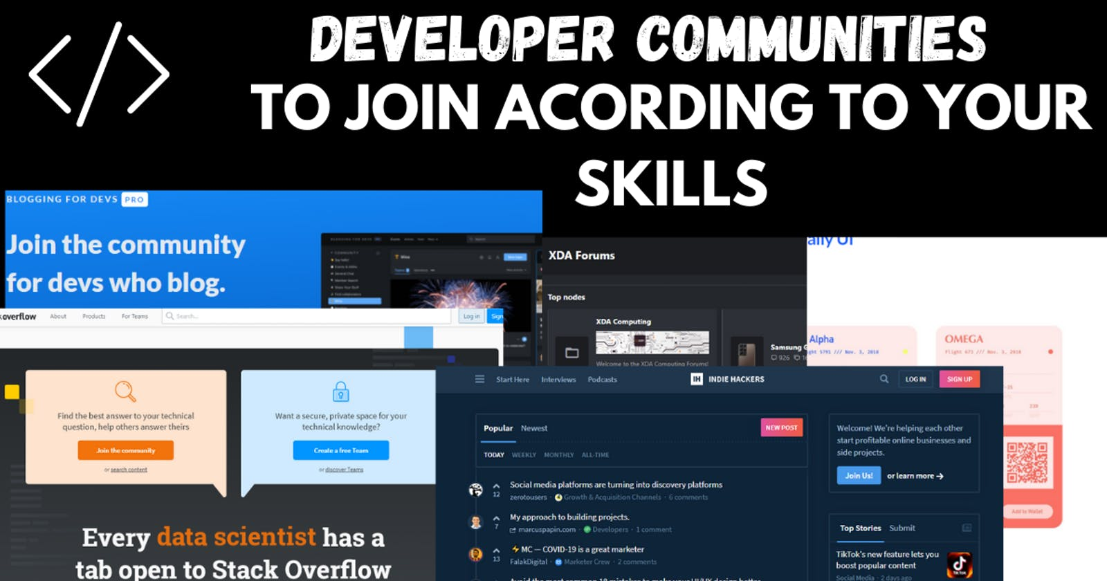 Developer Communities to Join to Help You Grow Your Tech Career.