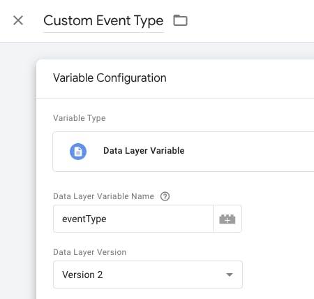 custom event type configuration