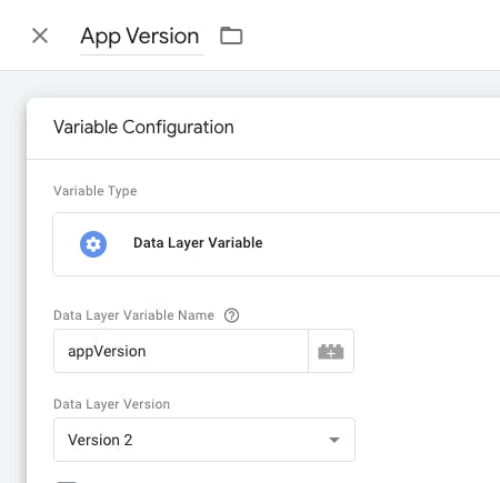 app version configuration