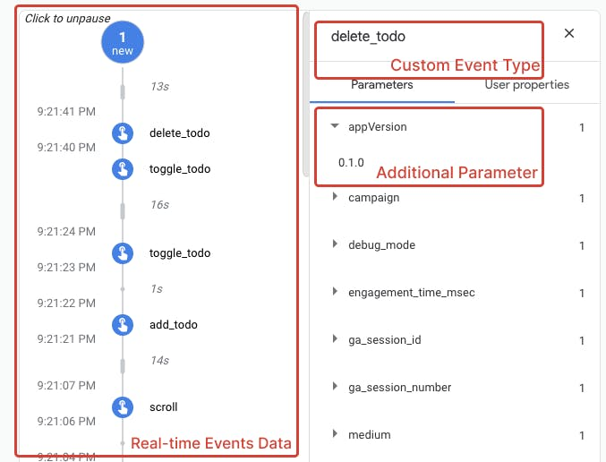debug view real time events being logged.png