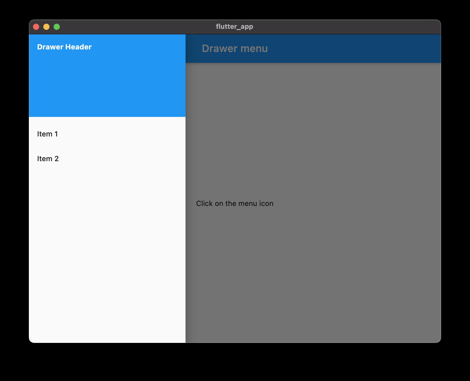 Flutter Mac application