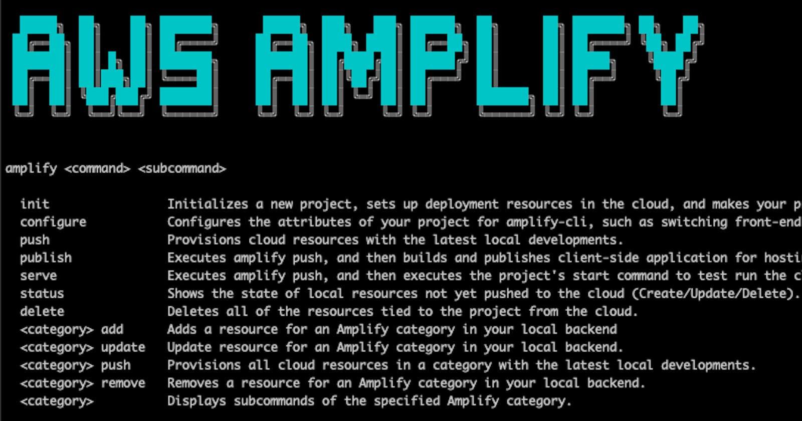 Host a Static Web app using AWS Amplify