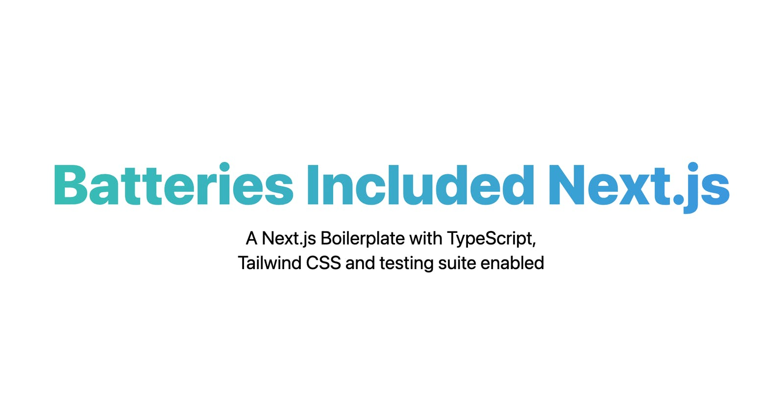 Setting up a Next.js Application with TypeScript, JIT Tailwind CSS and Jest/react-testing-library