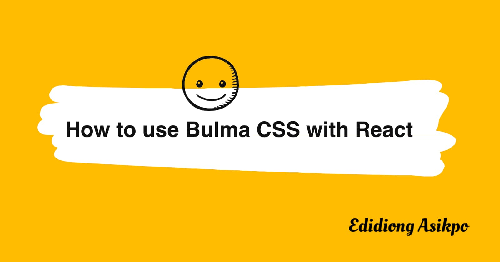 How to use Bulma CSS with React