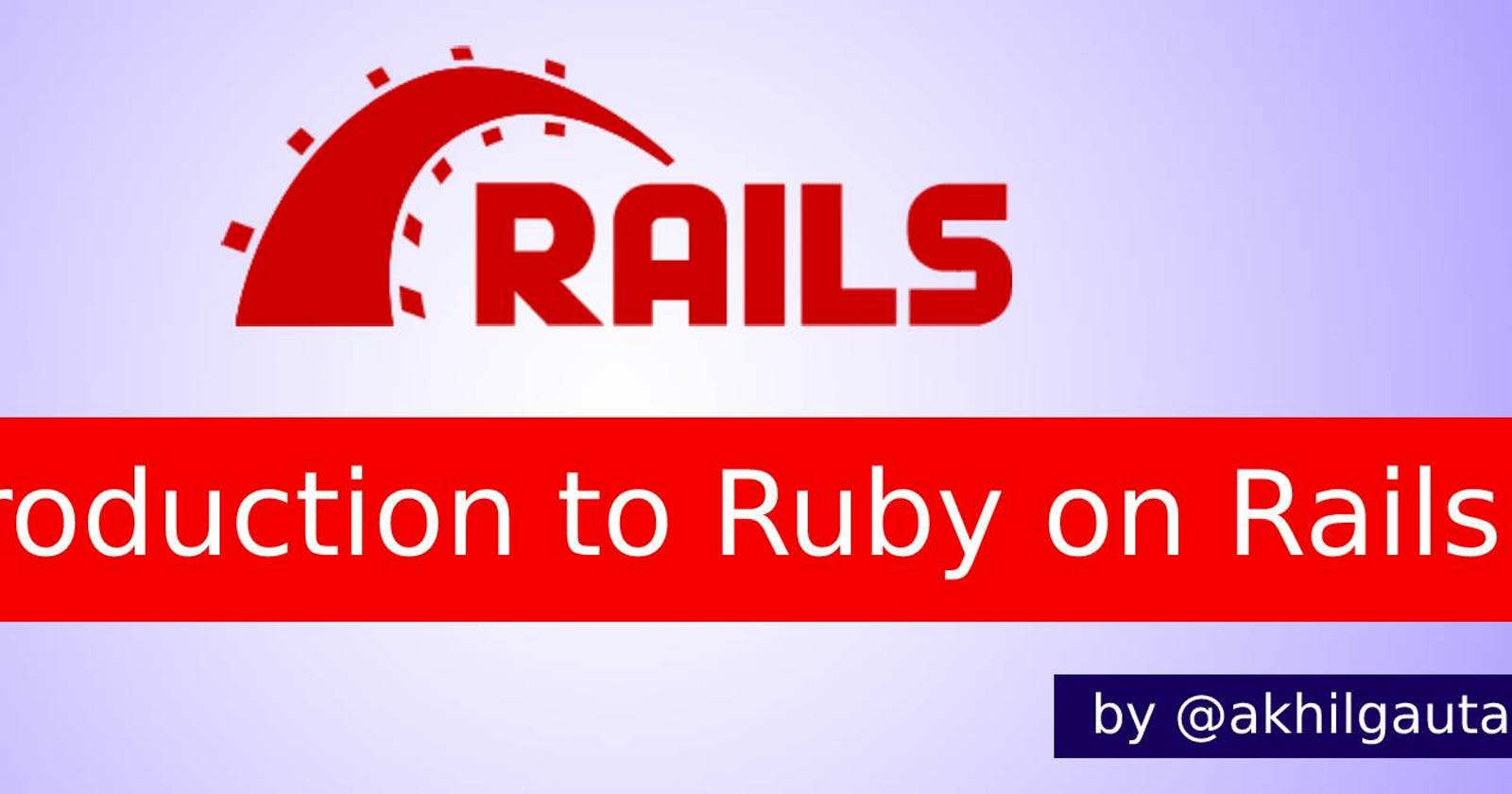 Ruby on Rails: Rome can be built in a day