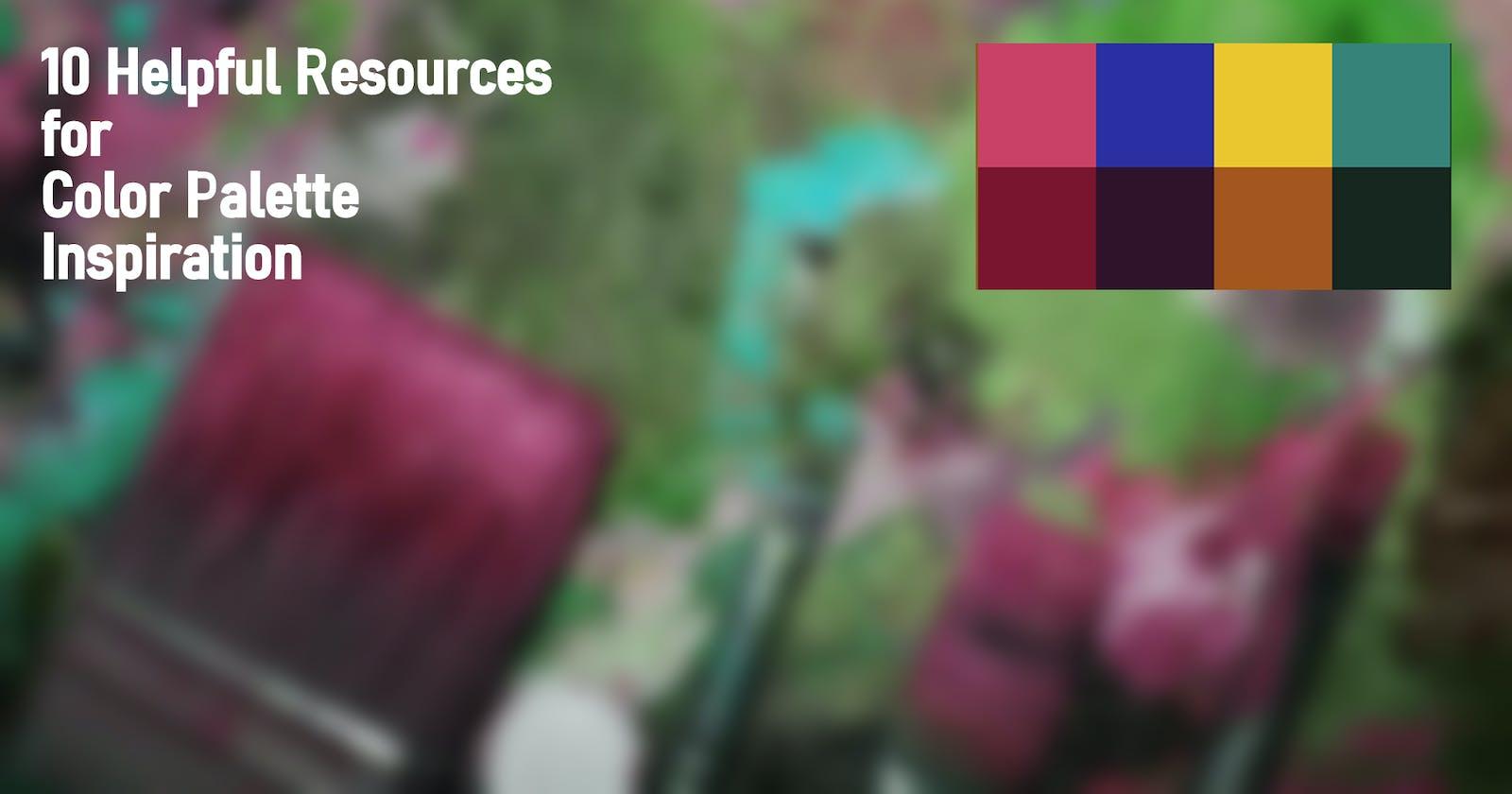 10 Wonderful Resources For Color Palette Inspiration