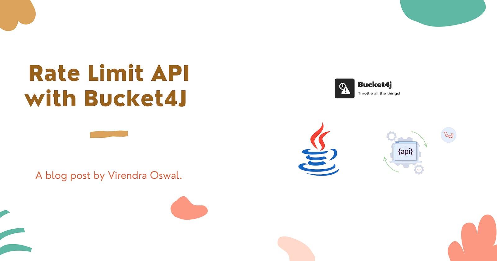 Rate Limit APIs with Bucket4J via Java