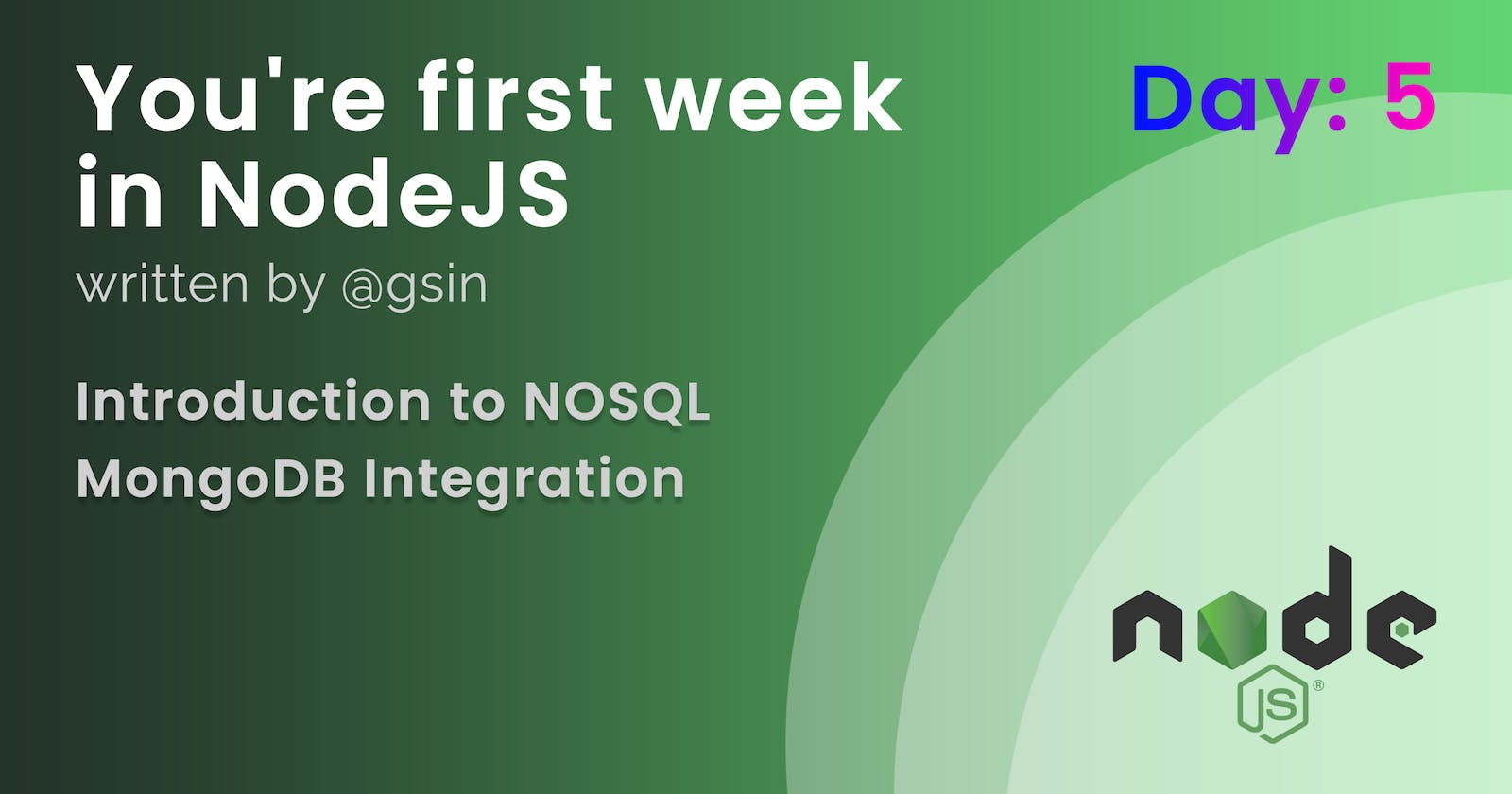 Day 5 - Your first week in NodeJS