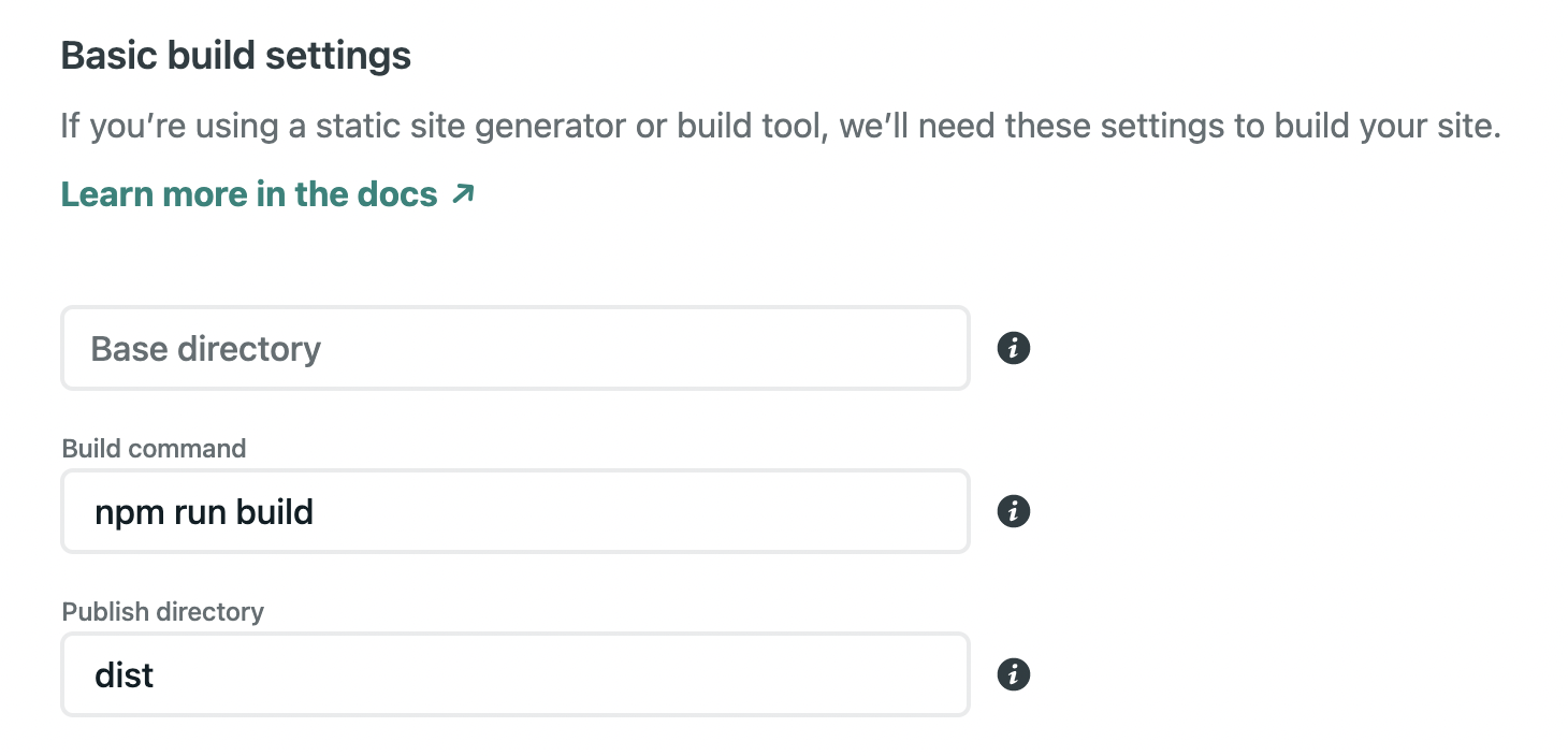 Netlify Astro build settings