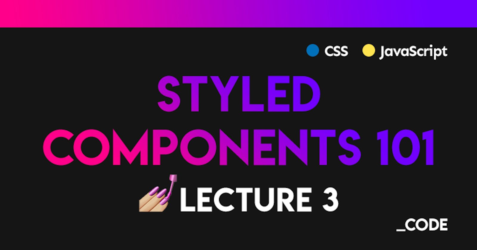 Styled Components 101 💅 Lecture 3: SSR with Next.js + Custom Icon Fonts 😍