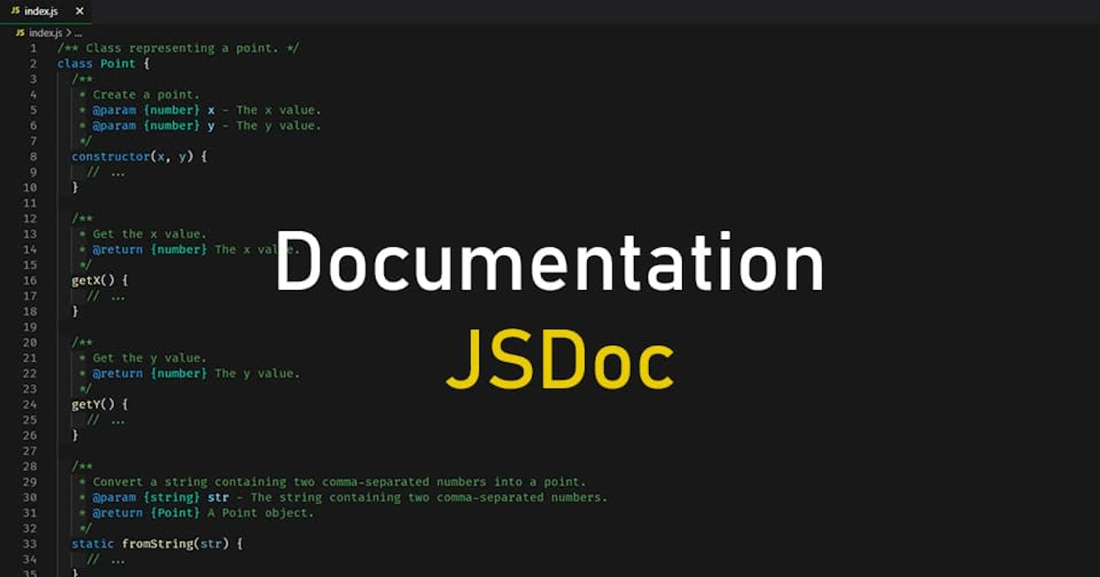 Generation of project documentation in various formats: JSDoc