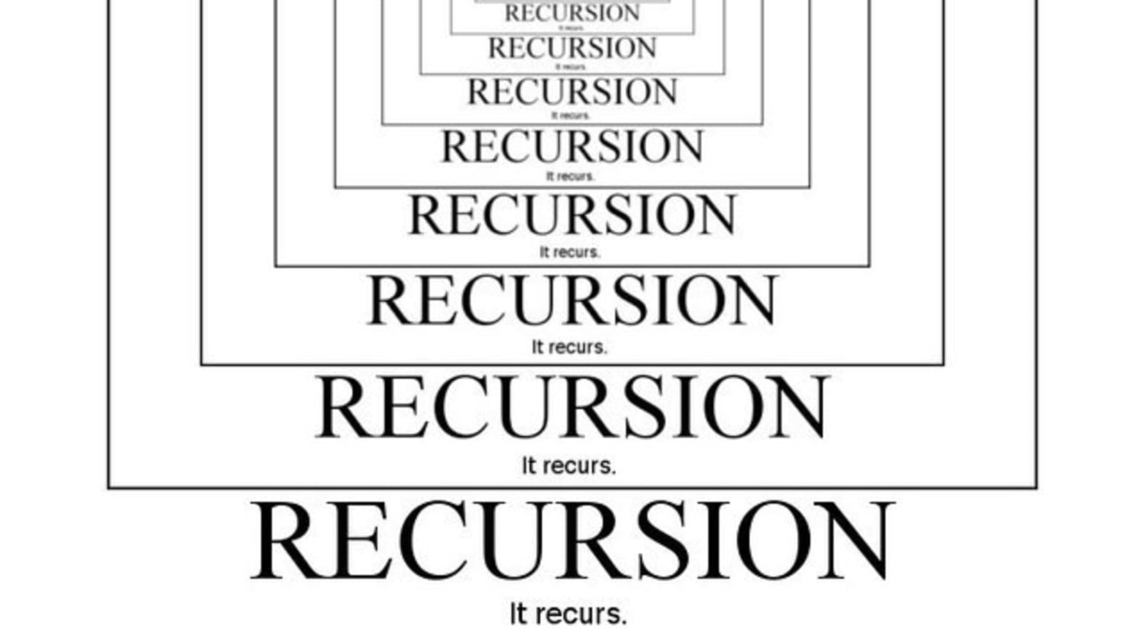 Recursive function